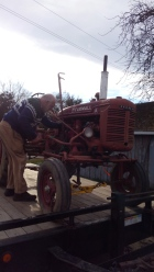 New cultivating tractor, Farmall A, purchased at auction